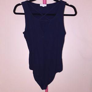 Socialite navy blue bodysuit